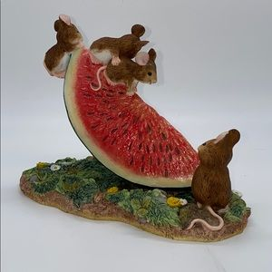 Cute Mice on a Watermelon Slice